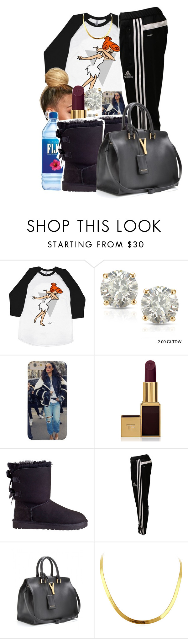"""11/3/15"" by xtaymaxlovesxmisfitx ❤ liked on Polyvore featuring Auriya, Tom Ford, UGG Australia, adidas and Yves Saint Laurent"
