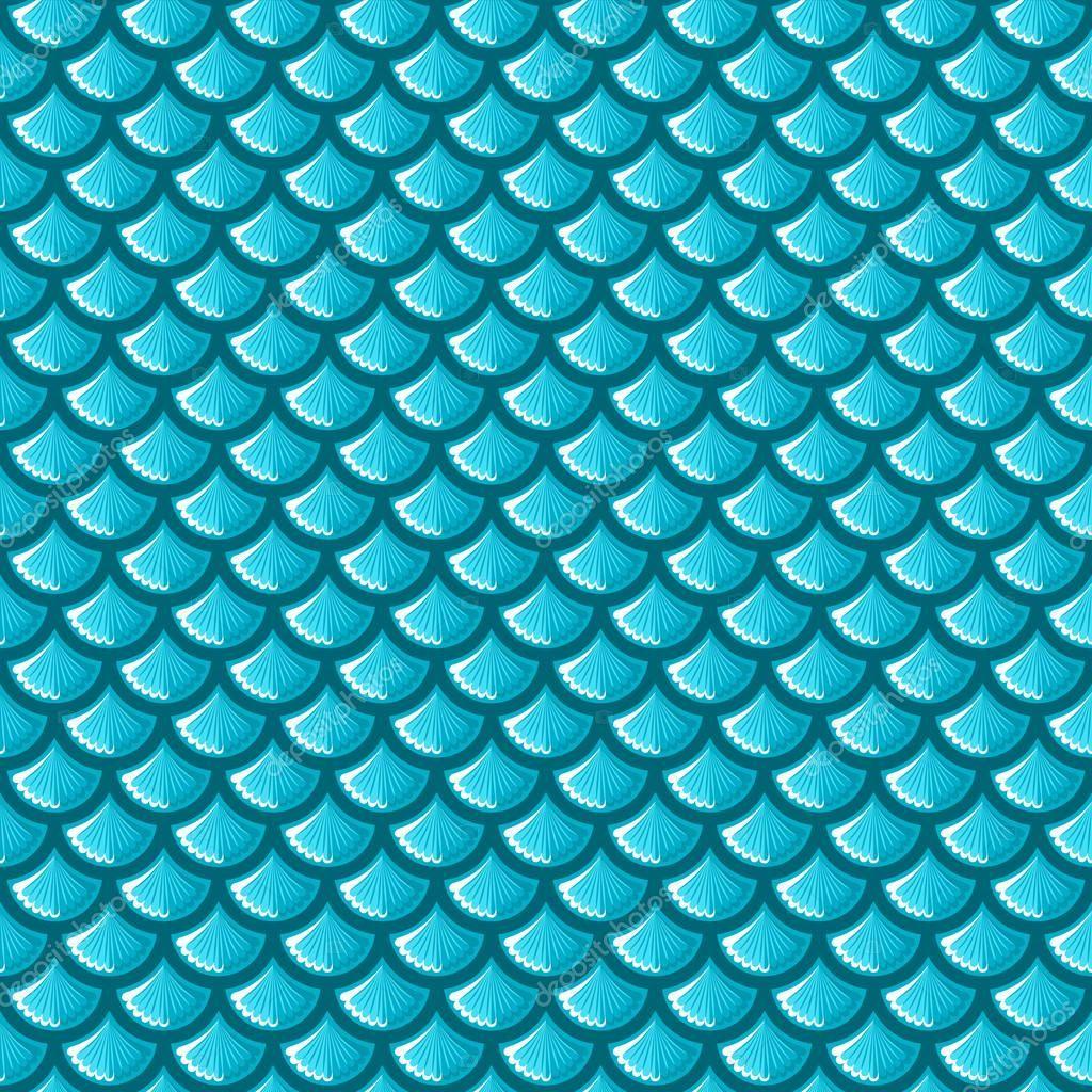 Baixar Escamas De Peixe De Rio Azul Sem Emenda Ilustracao De