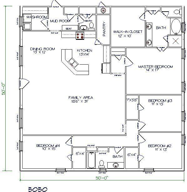 4 Bedroom Bungalow Design Brilliant 30 Barndominium Floor Plans For Different Purpose  Barn House Design Inspiration