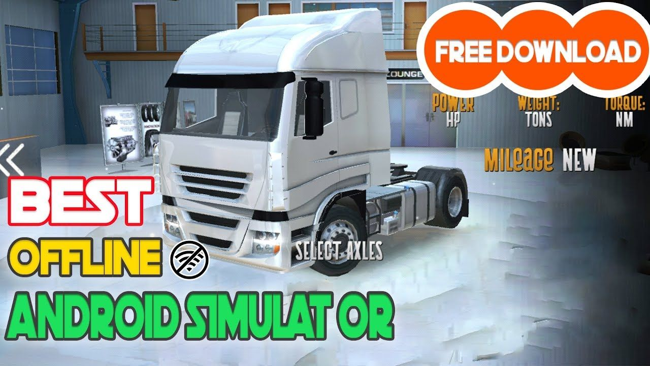 Euro Truck Driver Android Simulator Game Apk + Obb Free Download