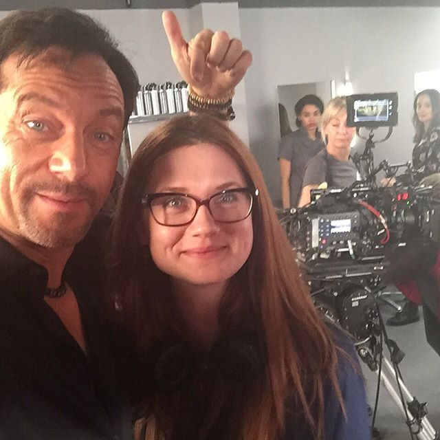 """The infant prodigy #bonniewright directs me (and #KerryFox) in her adaptation of A.S. Byatt's Medusa's Ankles. So cute. Altogether: """"Aaaaaah."""" Wait...she's how old now?! Scrap that... After film school in New York and an entire childhood on some of the biggest and best sets in the world, director Bonnie Wright channels her vast experience back into taking the storytelling reins and does it with grace, clarity and a lightness of touch. Such a pleasure (even though I had to study hairdressing…"""