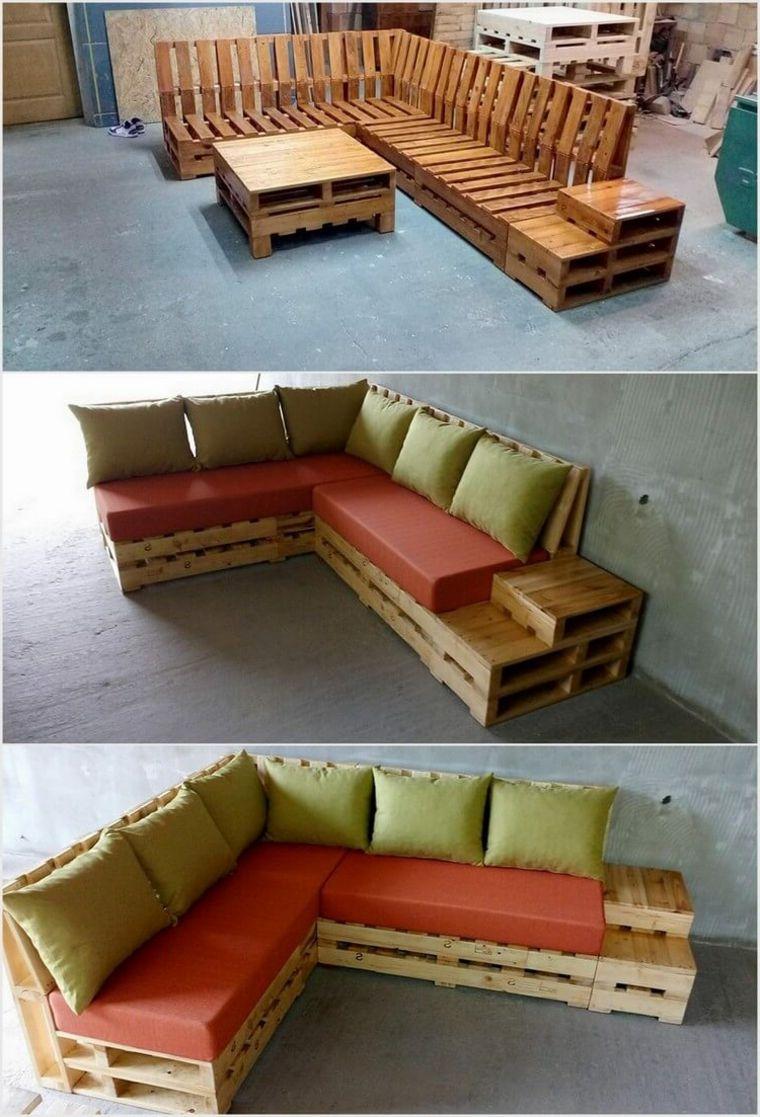 Idea per realizzare dei mobili con pallet angolari for Completi da giardino