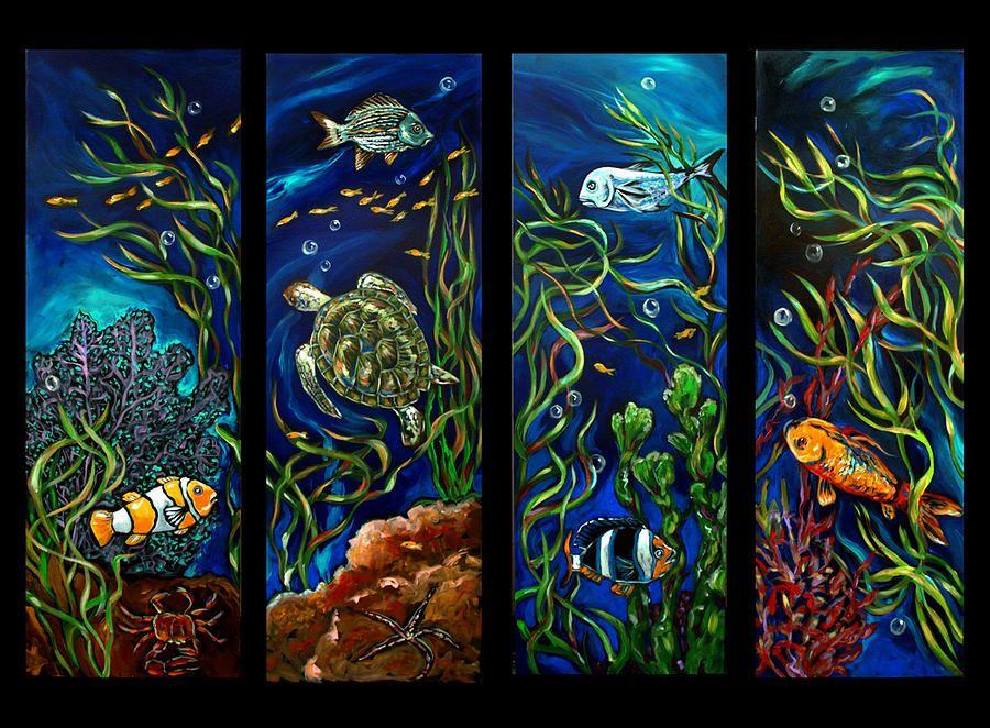 Coral Reef Series Painting | Wyland paintings, Underwater art