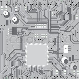 Electronic circuit board vector with chip, technology, microchip ...