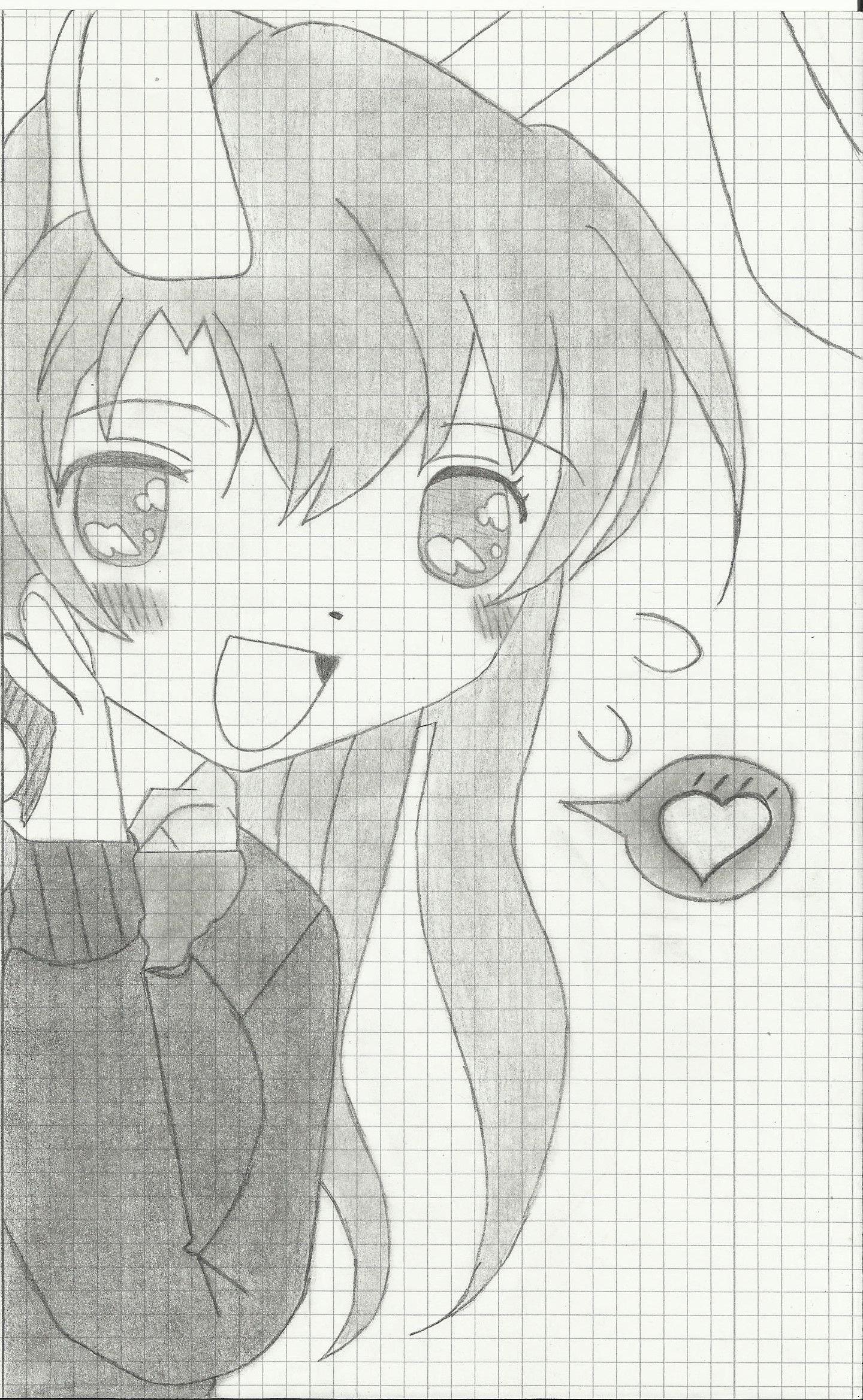 Mädchen mit Hasen Ohren, gezeichnet