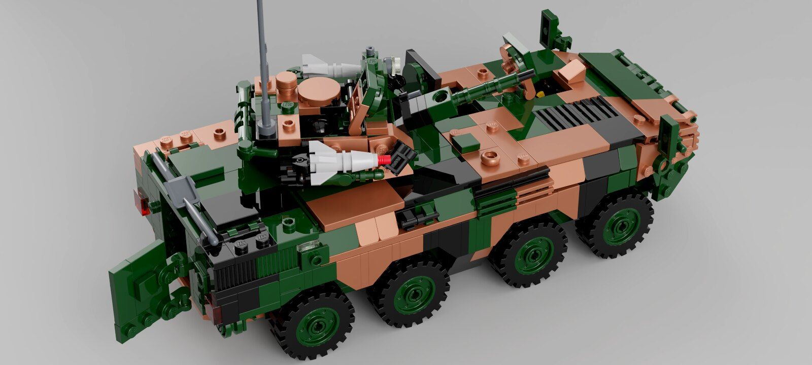 Chinese ZBL08 IFV Lego military, Military vehicles