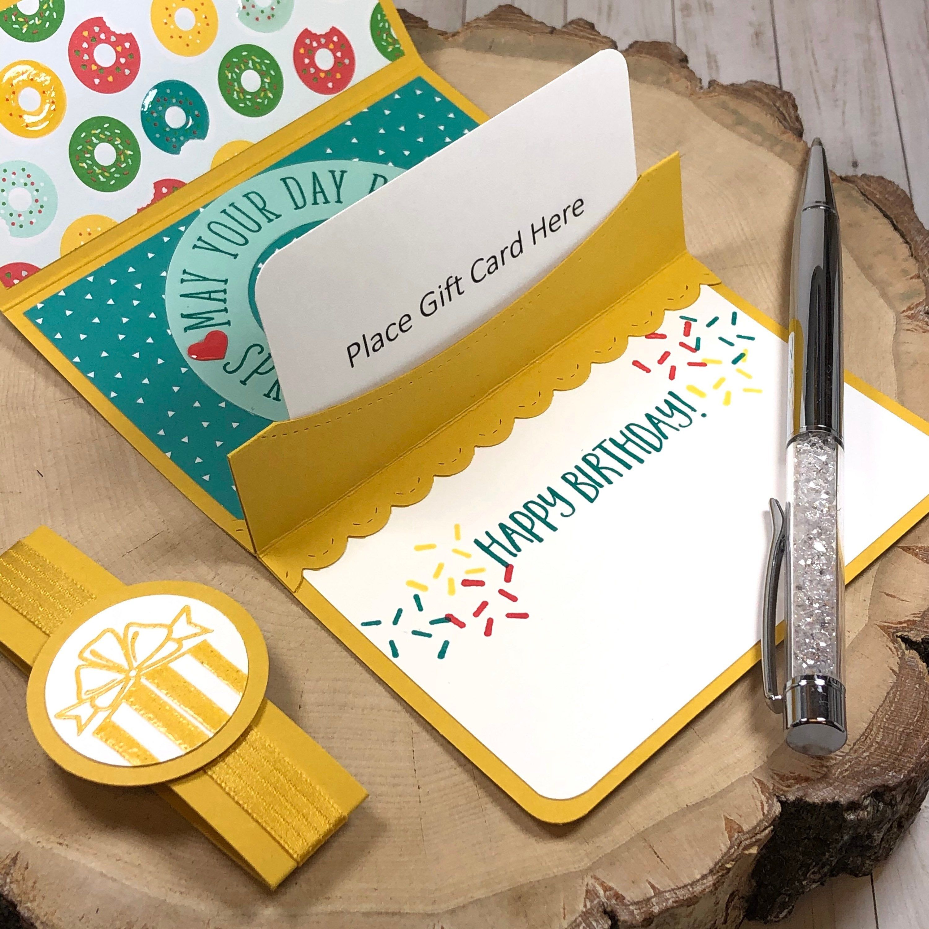Pop Up Birthday Gift Card Holder With Donuts May Your Day Be Etsy Birthday Gift Cards Birthday Gift Card Holder Gift Card Holder Template