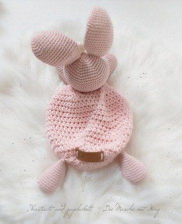 Schmusetuch Häschen #crochetsecurityblanket