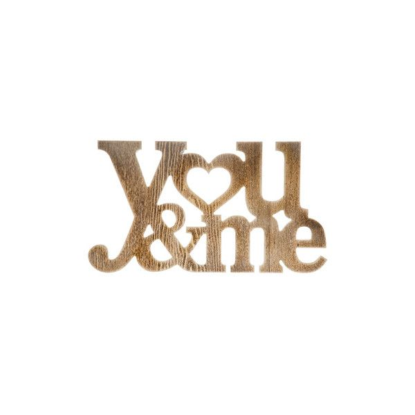 You Me Wood Word Sign (115 SEK) ❤ liked on Polyvore featuring home ...
