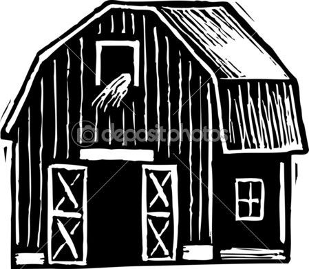 Vector Illustration Of Barn Vector Illustration Illustration Clipart Black And White