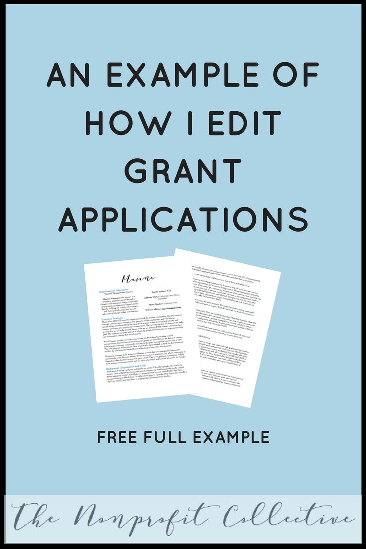 How To Edit A Grant Application Example