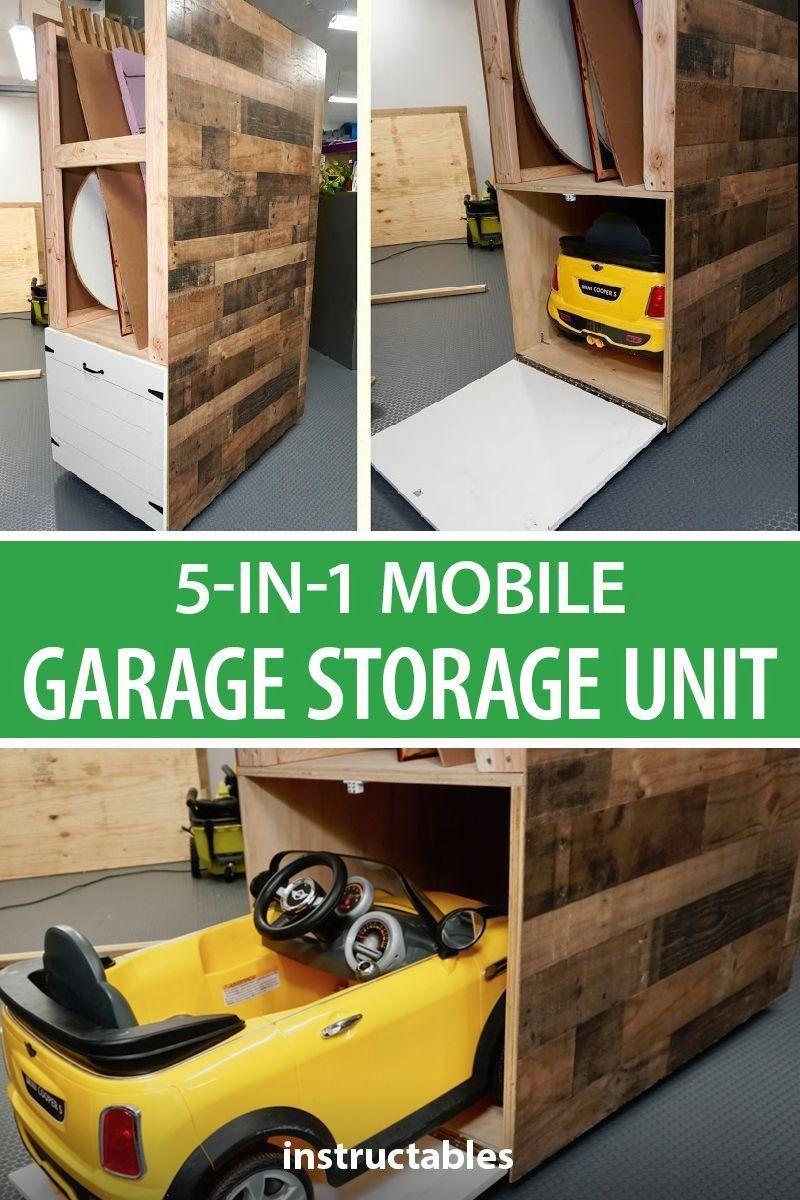 5 In 1 Mobile Garage Storage Unit 1000 In 2020 Garage Storage Units Mobile Garage Garage Storage