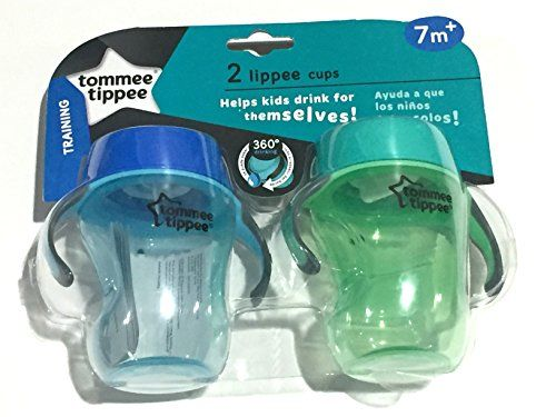 Tommee Tippee Trainer Lippee Cup Blue  GreenPink  Purple 8 Ounce 2 Count Small * You can get additional details at the image link.Note:It is affiliate link to Amazon.