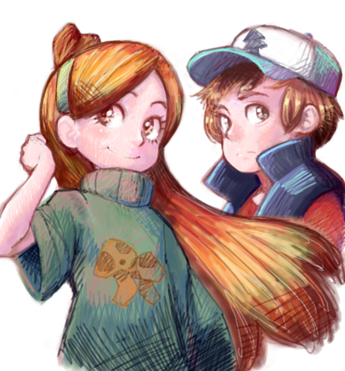 Gravity Falls - Dipper and Mabel << I love, love, LOVE Mabel's sweater here!!