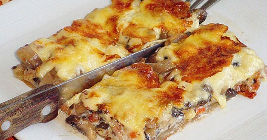 Γρήγορη μανιταρόπιτα: Μια πανεύκολη συνταγή για αρχάριους. Μανιταρόπιτα με καρότοκαι μπέικον χωρίς φύλο. Απολαύστε το ως ορεκτικό ή … | Food, Cooking, Greek cooking