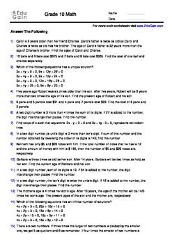 Linear Equations In Two Variables 200 Word Problems With Solutions
