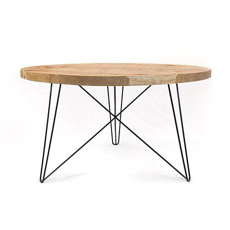Nutsandwoods Oak Steel Table Round Stahltisch Esstisch Rund