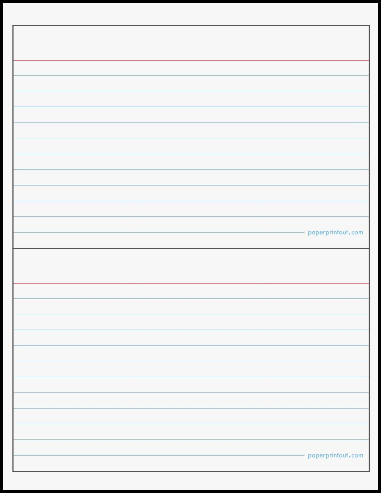 3x5 index card printable para sys within word template