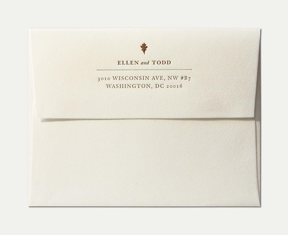 Wedding Invitation With Envelope Wedding Gallery Pinterest