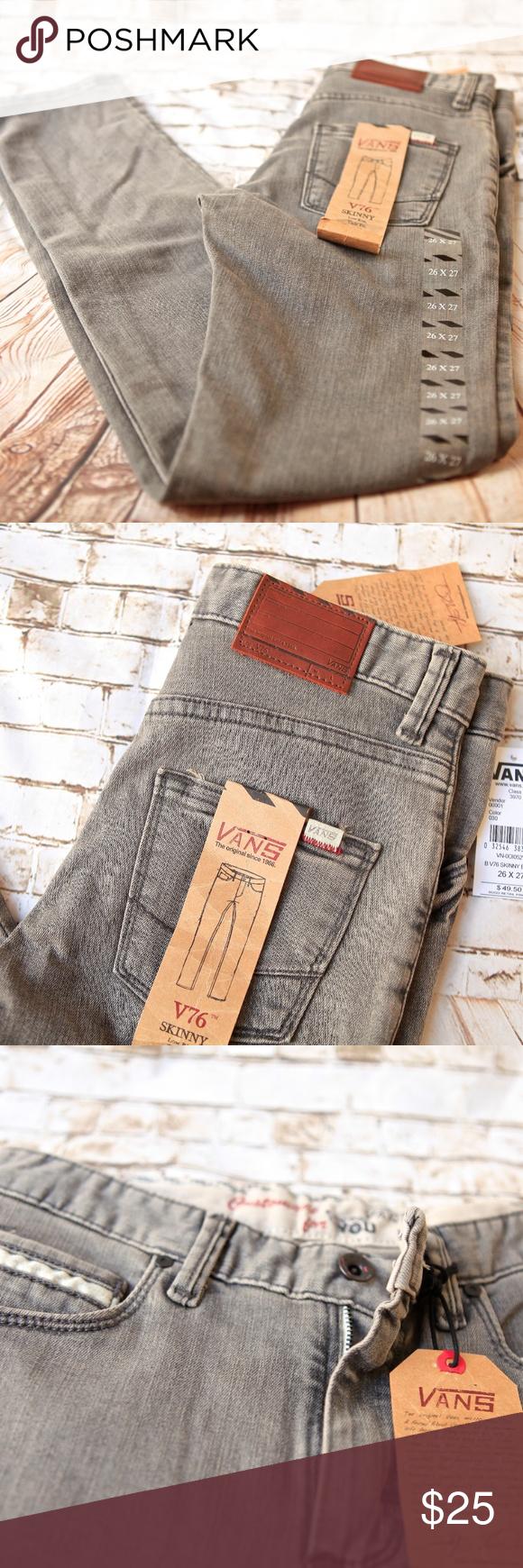 330d775aca BRAND NEW VANS jeans V76 SKINNY BOYS VANS jeans V76 SKINNY COLOR  Gravel  Grey Size