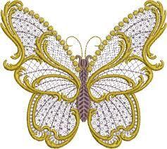 machine embroidery   daffodil machine embroidery design in free standing lace technique. - Google Search