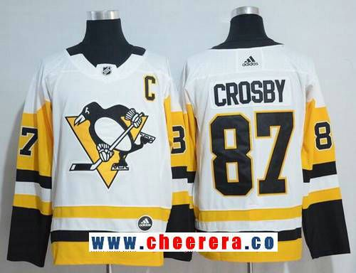 821bfb71e Men's Pittsburgh Penguins #87 Sidney Crosby White 2017-2018 Adidas Hockey  Stitched NHL Jersey