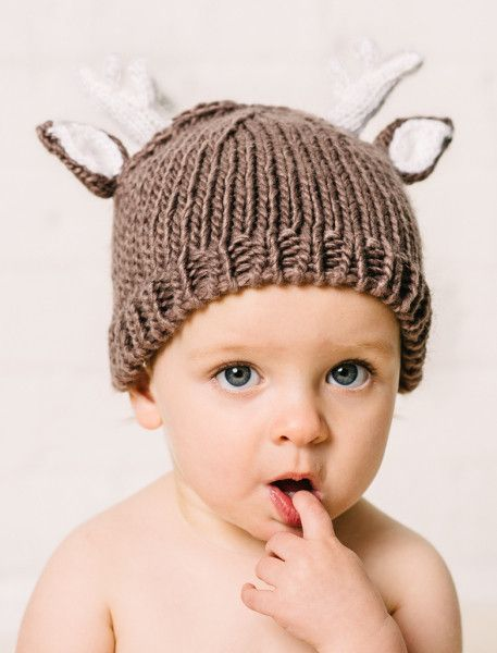 """Hartley"" Deer Hat.  Small 12-24 months Medium 2-10 years"