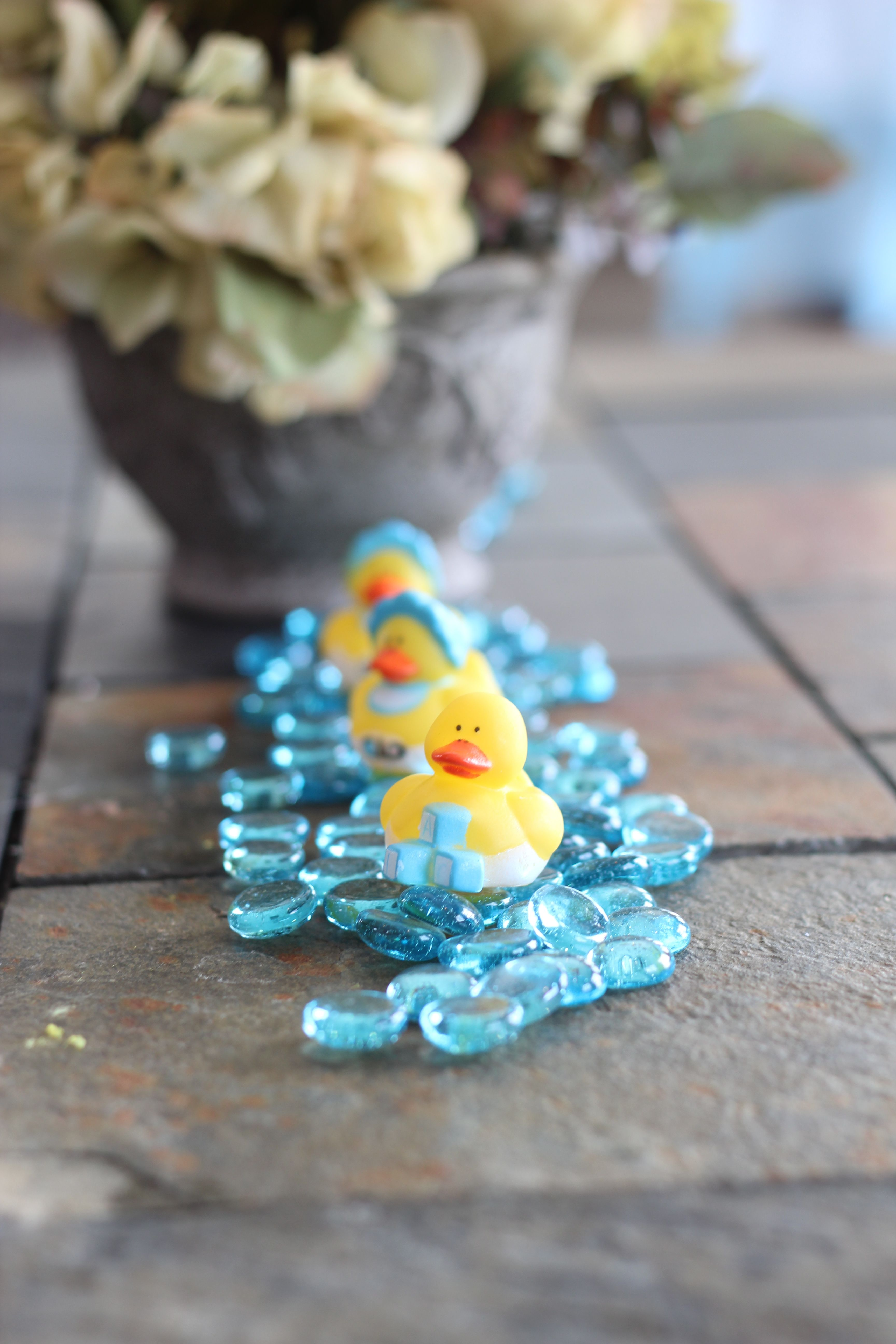 Cute Accents For A Rubber Ducky Baby Shower