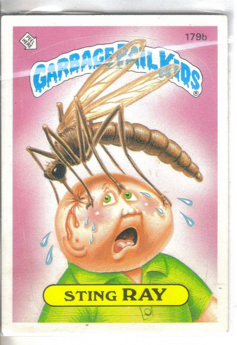 Garbage Pail Kids 1986 179b Sting Ray Garbage Pail Kids Cards Garbage Pail Kids Garbage