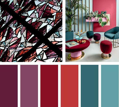 Morados rojos y verdes forman parte de esta paleta de colores din mica con sensaciones - Gama de colores morados ...