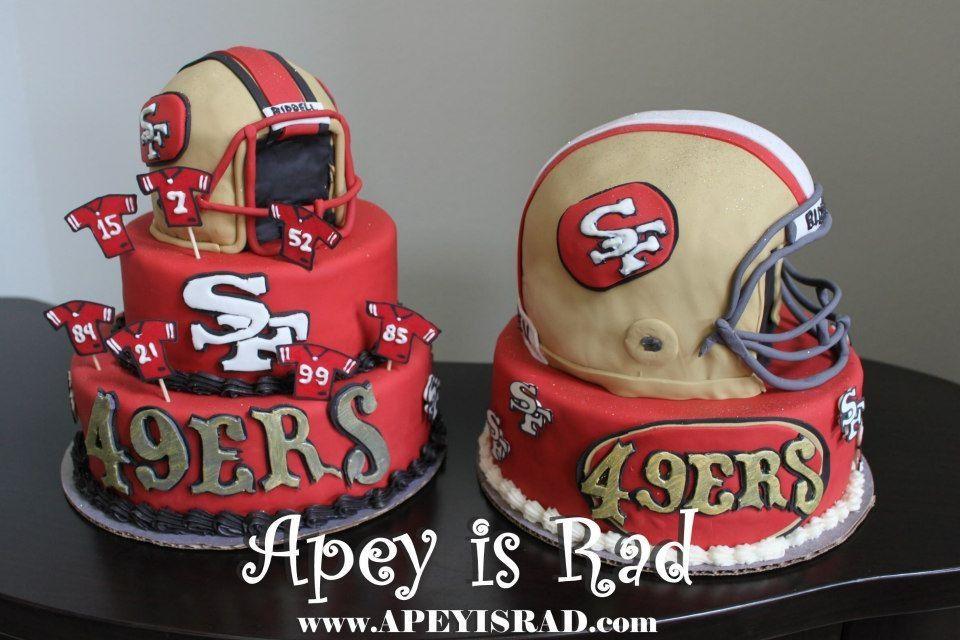 SF 49ers cake wwwapeyisradcom 49er cakes Pinterest 49ers