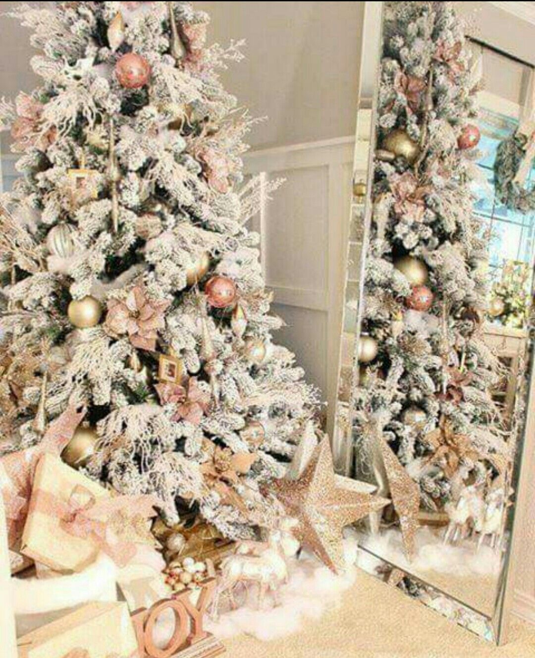 Pink And White Christmas Tree: Rose Gold & White Christmas Tree