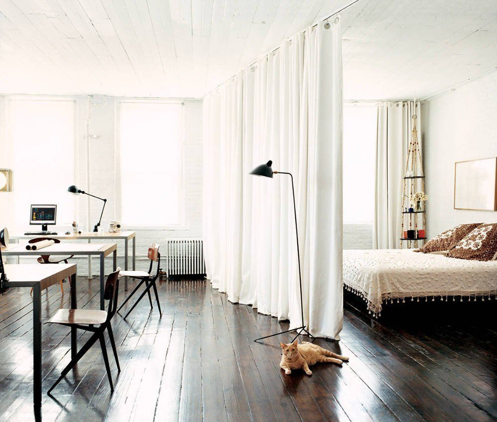 12 Ways to Create a Bedroom in a Studio Apartment decorating