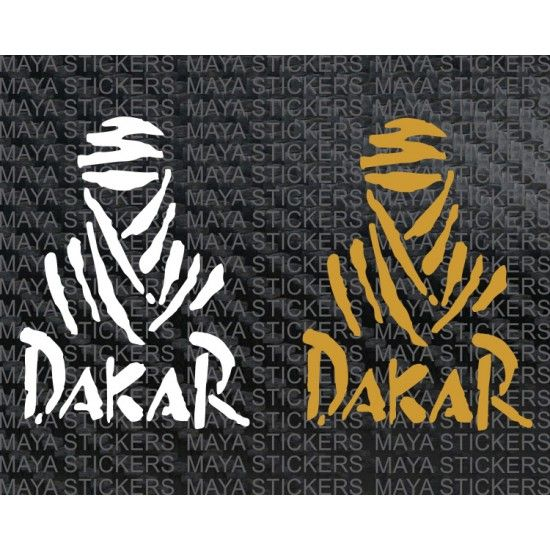 DAKAR PARIS RALLY Race Car Logo Window Vinyl Sticker Decal
