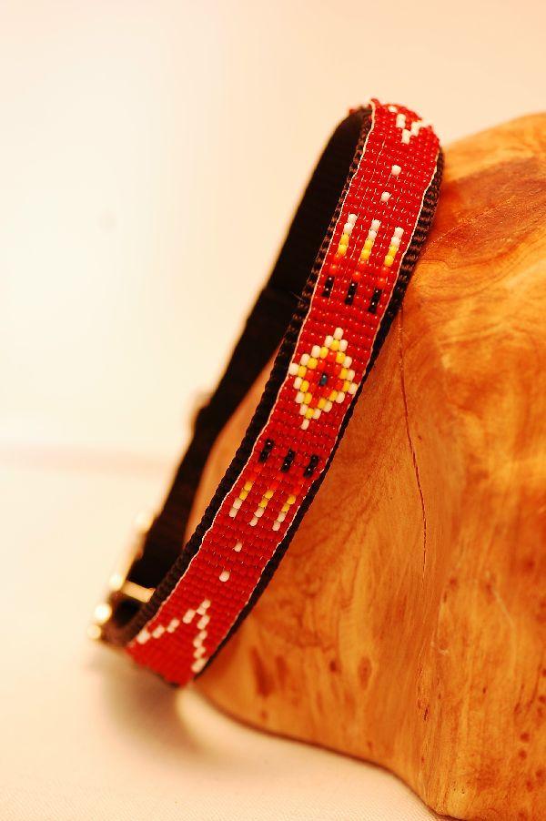 collier pour chien amerindien