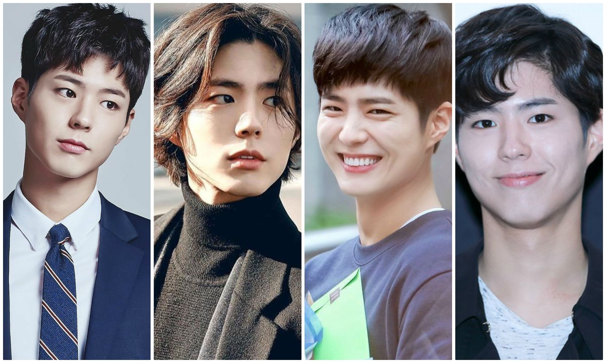 Park Bo Gum which looks different when changing his hairstyle