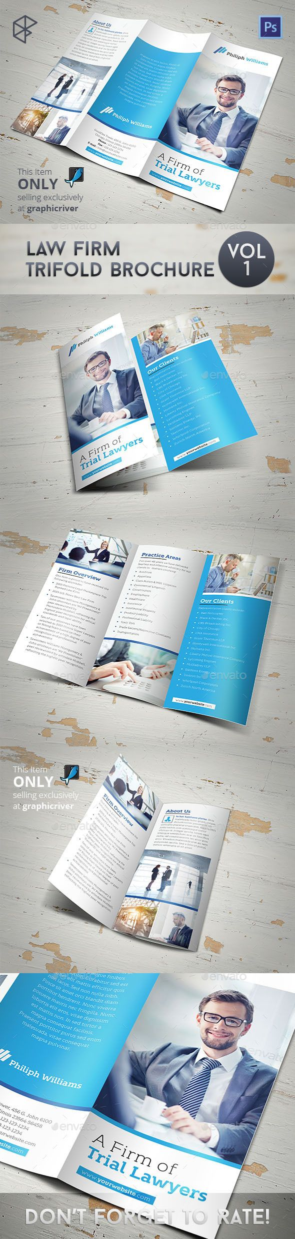 Law firm trifold brochure brochure template brochures for Law firm brochure template