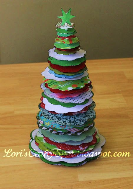 Christmas Card (or Scrapbook Paper) Tree