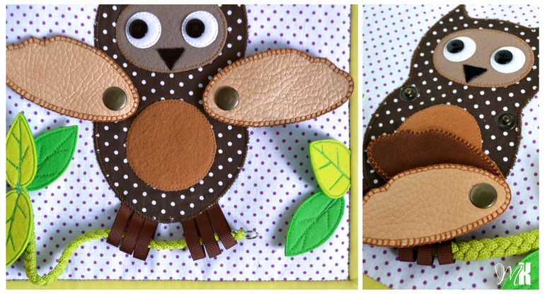 darling owl page...add something hiding under her wings