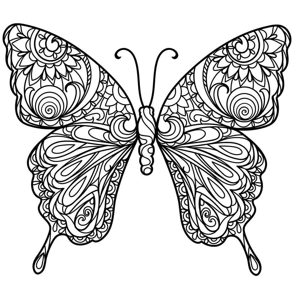 pin by terry lind on coloring flowers gardens butterfly coloring page fairy coloring. Black Bedroom Furniture Sets. Home Design Ideas