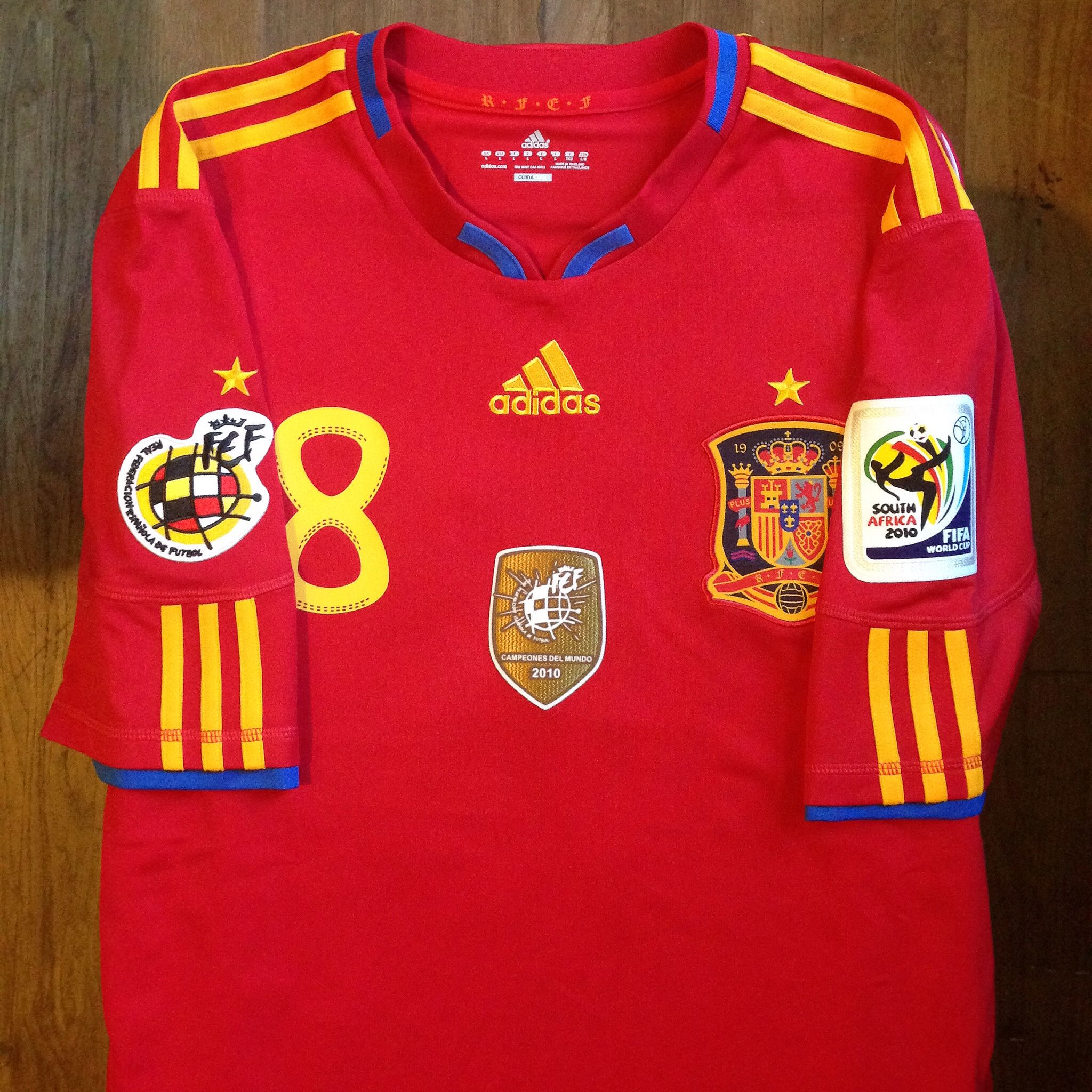 2010 South Africa FIFA World Cup Spain Home Jersey - RFEF Limited Edition     Primera e49144902