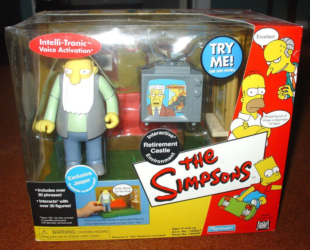 Toys For Retirees : The simpsons world of springfield interactive environment