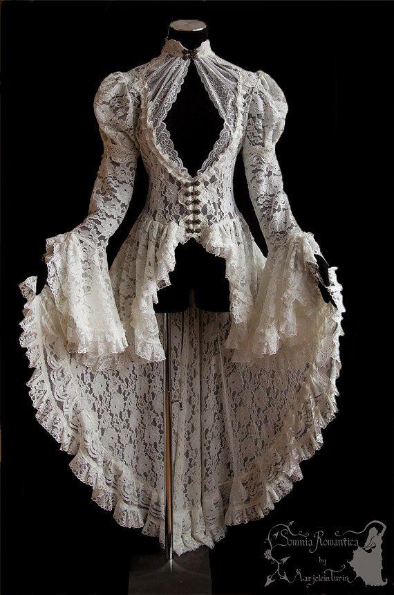 see item details and size chart Steampunk Cottage chic capelet art nouveau Elven victorian Somnia Romantica size XS Victorian cape