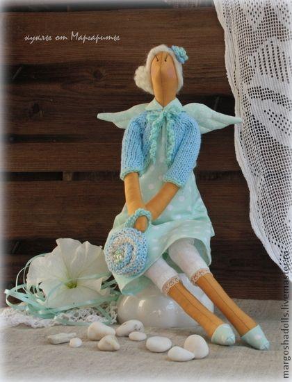 Куклы Тильды ручной работы. Ярмарка Мастеров - ручная работа Тильда-ангел добрых вестей Катрина. Handmade.
