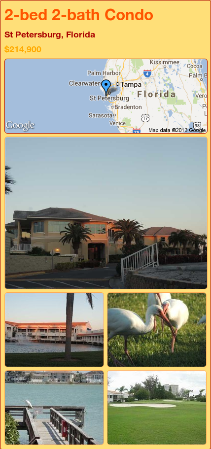 2-bed 2-bath Condo in St Petersburg, Florida ►$214,900 #PropertyForSale #RealEstate #Florida http://florida-magic.com/properties/9431-condo-for-sale-in-st-petersburg-florida-with-2-bedroom-2-bathroom