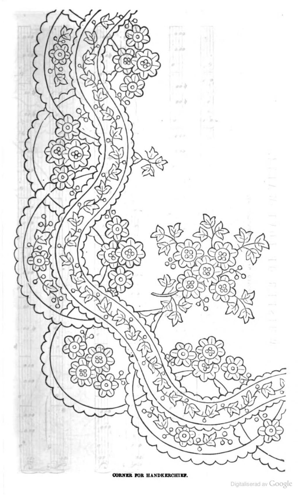 Peterson S Magazine Dibujo De Encaje Puntos De Bordado Cosidos Patrones De Bordado