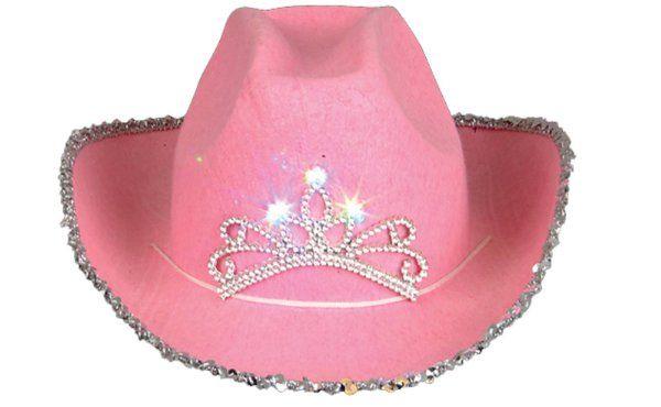 ffe4269e7b Rhode Island Novelty Child Pink Blinking Tiara Cowboy Hat Amazon Toys    Games