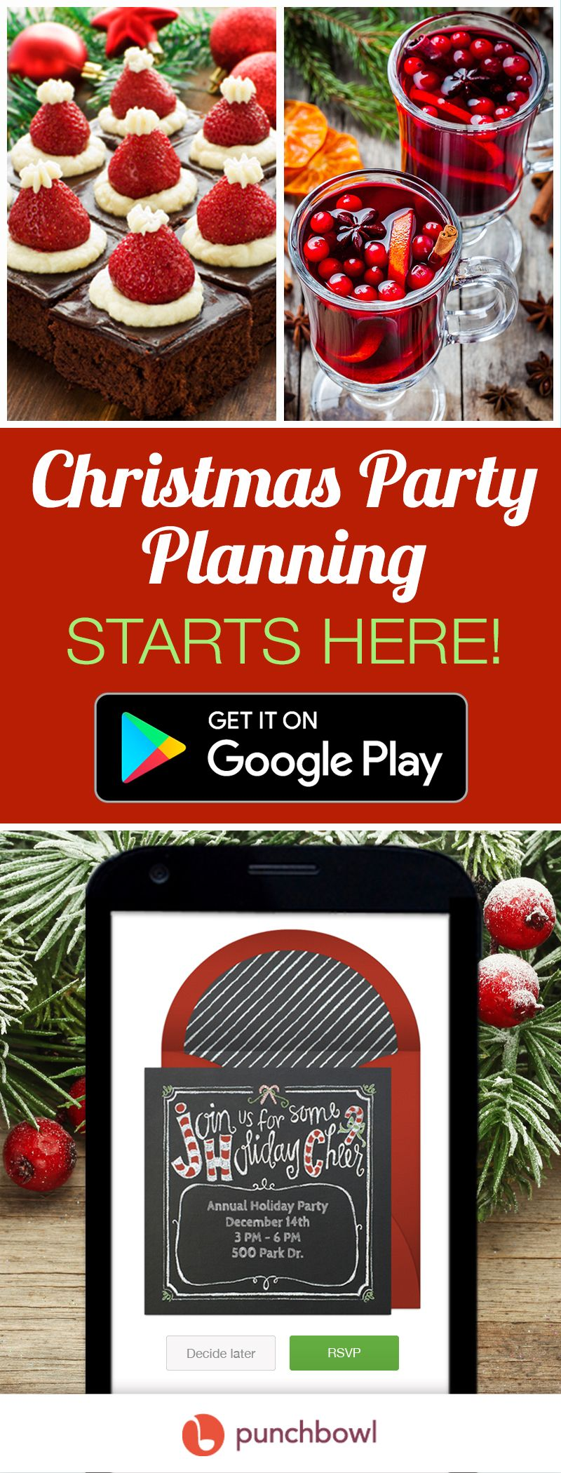 Send free Christmas Party invitations by text message