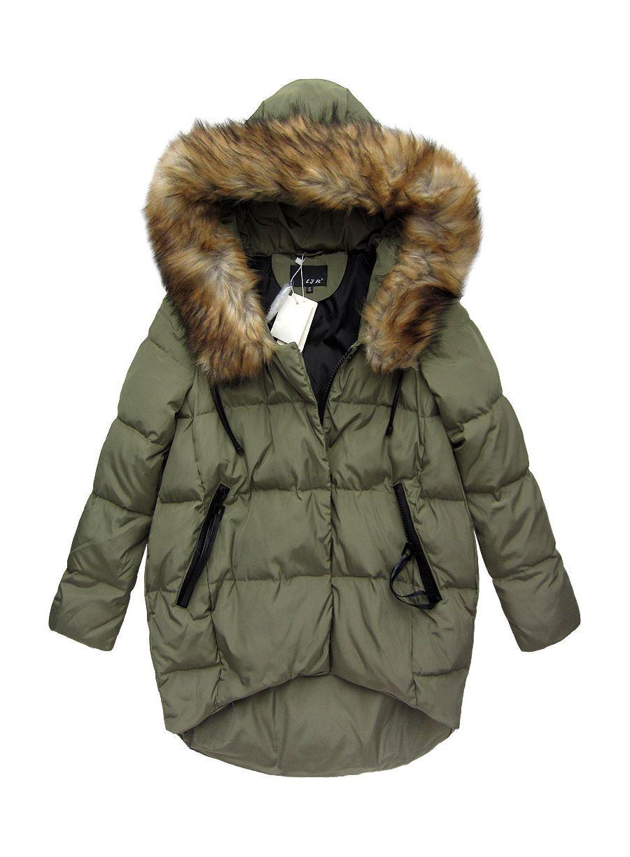 Kurtka Zimowa Z Puchu Naturalnego Zielona 8082 Kurtki I Plaszcze Zimowe Dla Niej Winter Jackets Fall Looks Jackets