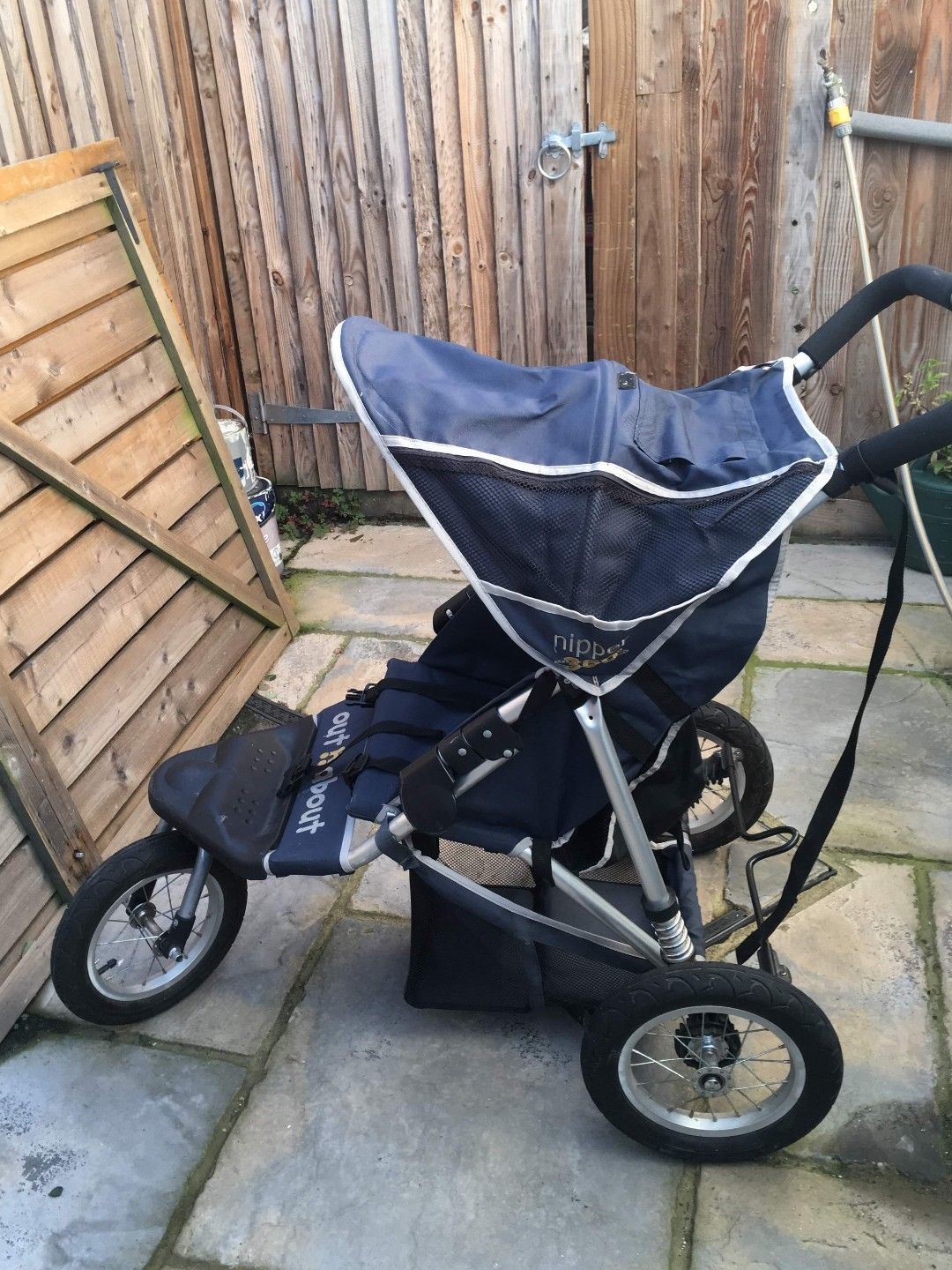 New Out n About little nipper single stroller in Marine blue with pvc /& basket